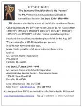 Class Reunion Sept 12, 2020